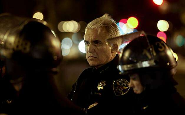 San Francisco police chief George Gascon was on hand with his officers along Broadway as protesters moved through downtown Oakland, Ca., on Thursday July 8, 2010,  in support of Oscar Grant, after former BART police officer, Johannes Mehserle, was found guilty of involuntary man slaughter in the killing of Grant. Photo: Michael Macor, The Chronicle