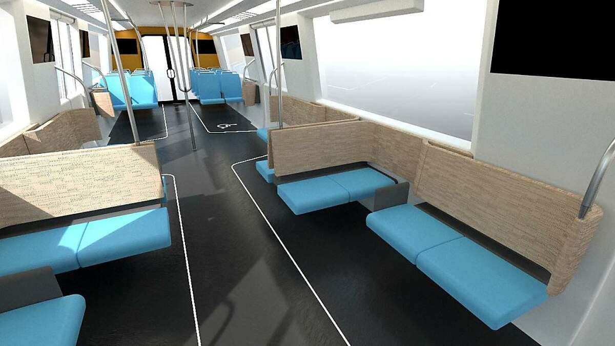 This is an image of a new BART train.