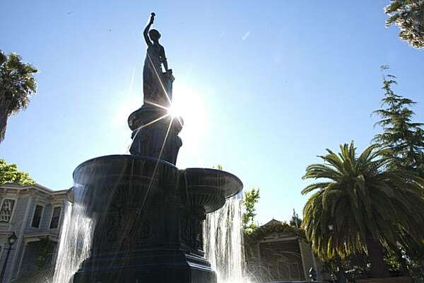 The Latham-Ducell Fountain in the Preservation Park on June 5, 2010 in Oakland, Calif.  Photograph by David Paul Morris/Special to the Chronicle