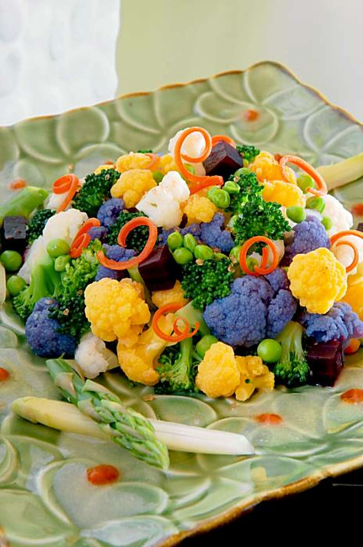 The Almost Raw and Naked Vegetable Salad showcases the seasonal sensibility of David Paul's Island Grill in Lahaina.