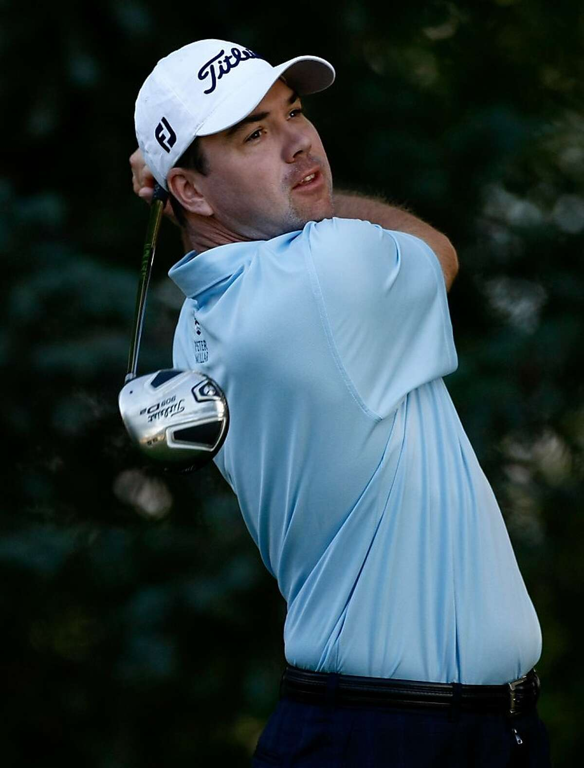 BOISE, ID - SEPTEMBER 17: Aaron Oberholser tees off on the 2nd hole during the first round of the Albertson's Boise Open at Hillcrest Country Club on September 17, 2009 in Boise, Idaho. (Photo by Jonathan Ferrey/Getty Images)
