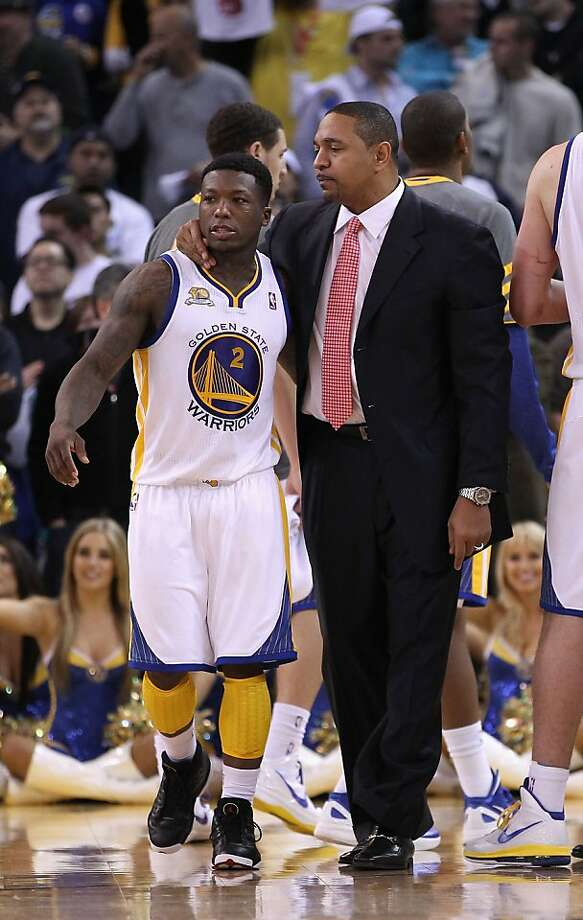 OAKLAND, CA - JANUARY 10:  Head coach Mark Jackson of the Golden State Warriors talks to Nate Robinson #2 of the Golden State Warriors during their game against the Miami Heat at Oracle Arena on January 10, 2012 in Oakland, California.  NOTE TO USER: User expressly acknowledges and agrees that, by downloading and or using this photograph, User is consenting to the terms and conditions of the Getty Images License Agreement.  (Photo by Ezra Shaw/Getty Images) Photo: Ezra Shaw, Getty Images