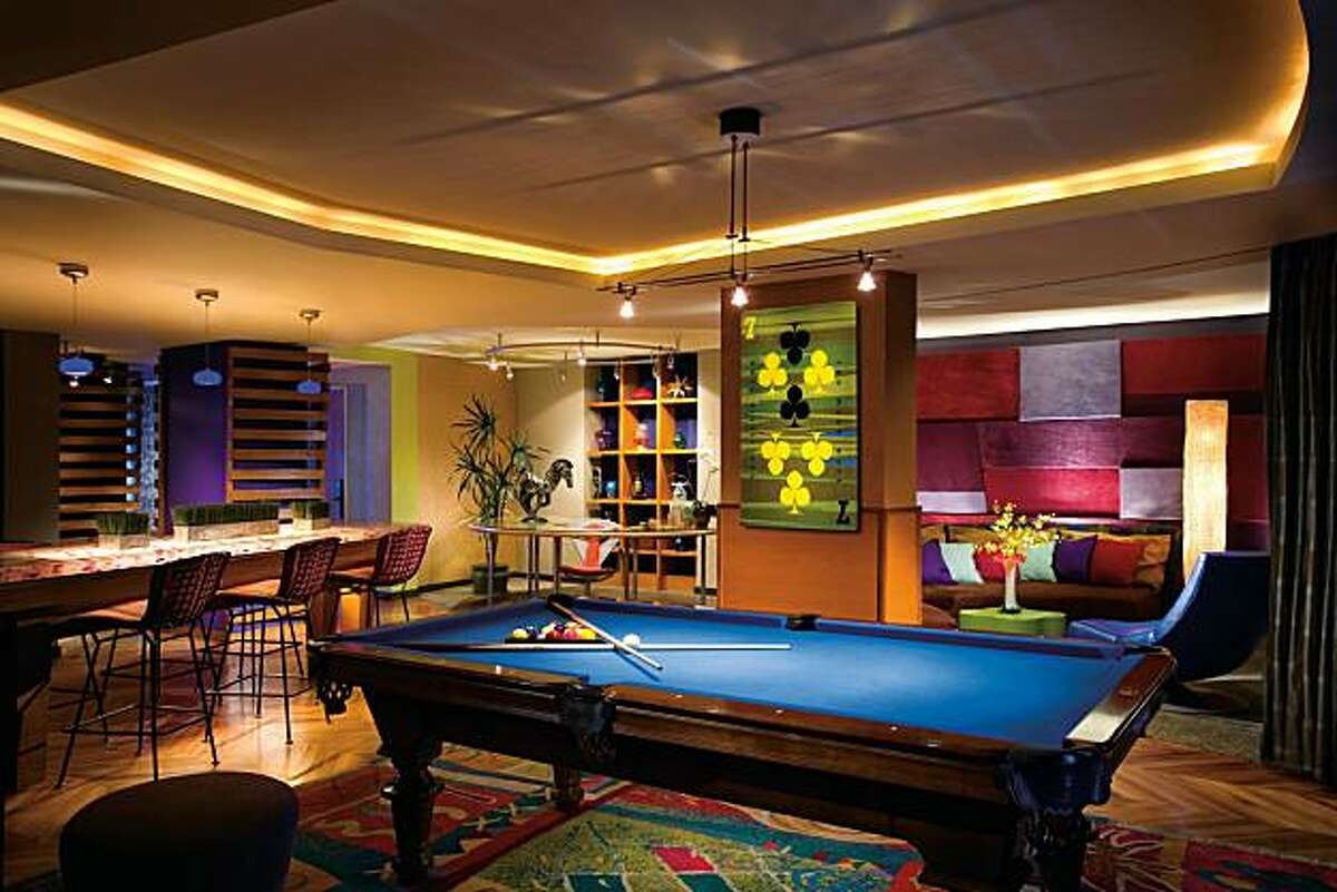 This undated photo shows part of the 3,000-square-foot Real World Suite at Palms Casino Resort in Las Vegas, which goes for $10,000 a night. The suite was used to film MTV?•s ?'Real World?
