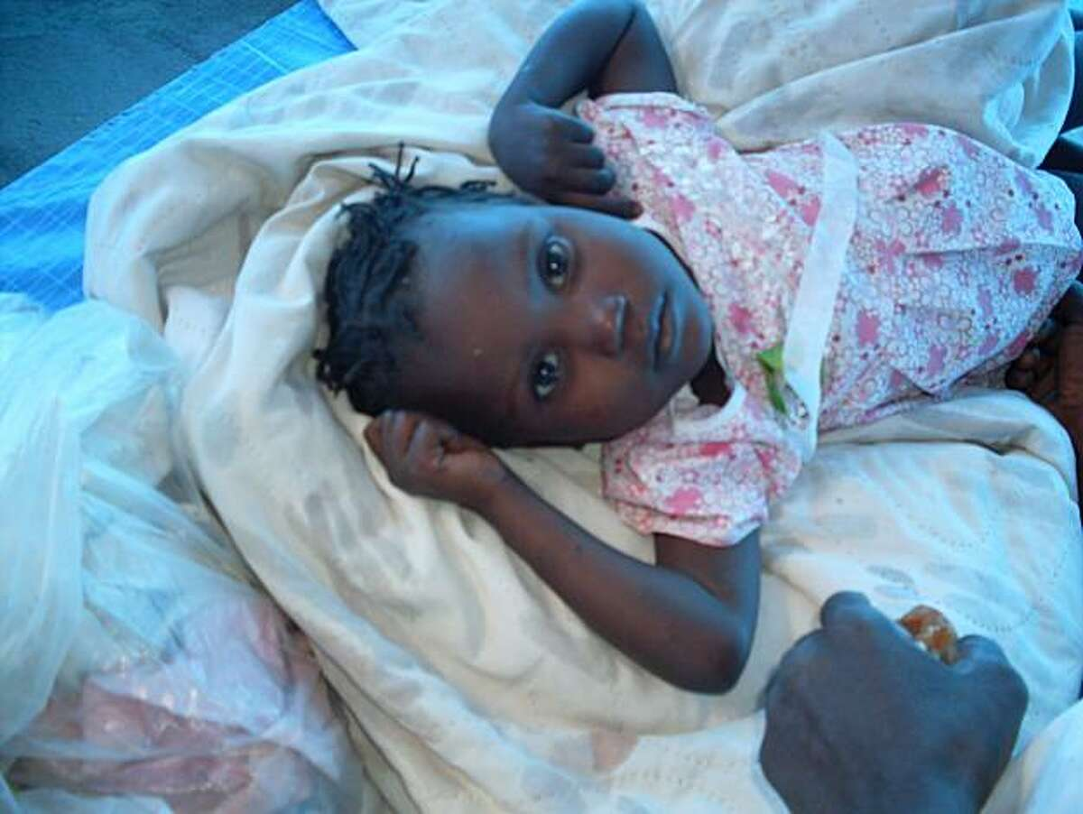Rose Geurline, 3, was carried by her family to a clinic in rural Haiti when she contracted cholera. Relief supplies rehydrated her and she survived.