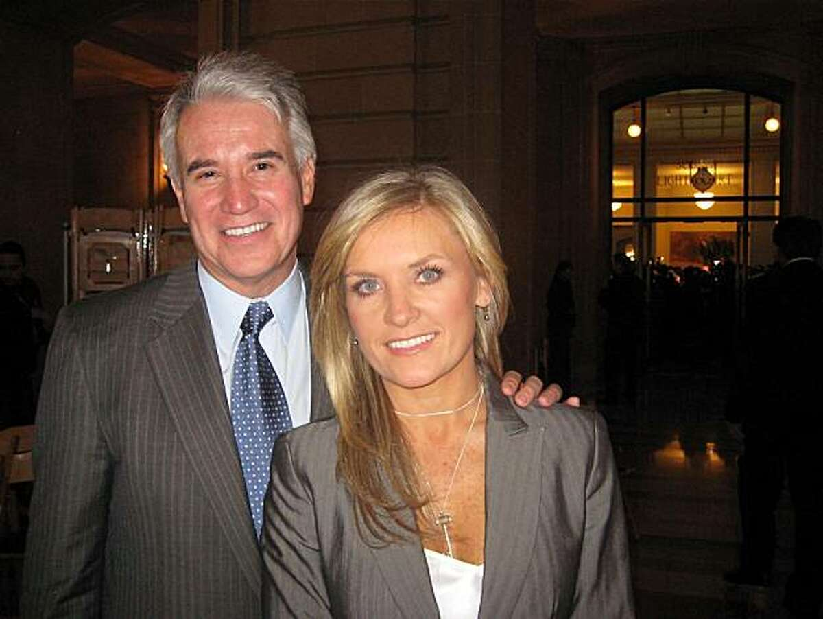 District Attorney George Gascon and his wife, Univision anchor Fabiola Kramsky. Jan 2011. By Catherine Bigelow.