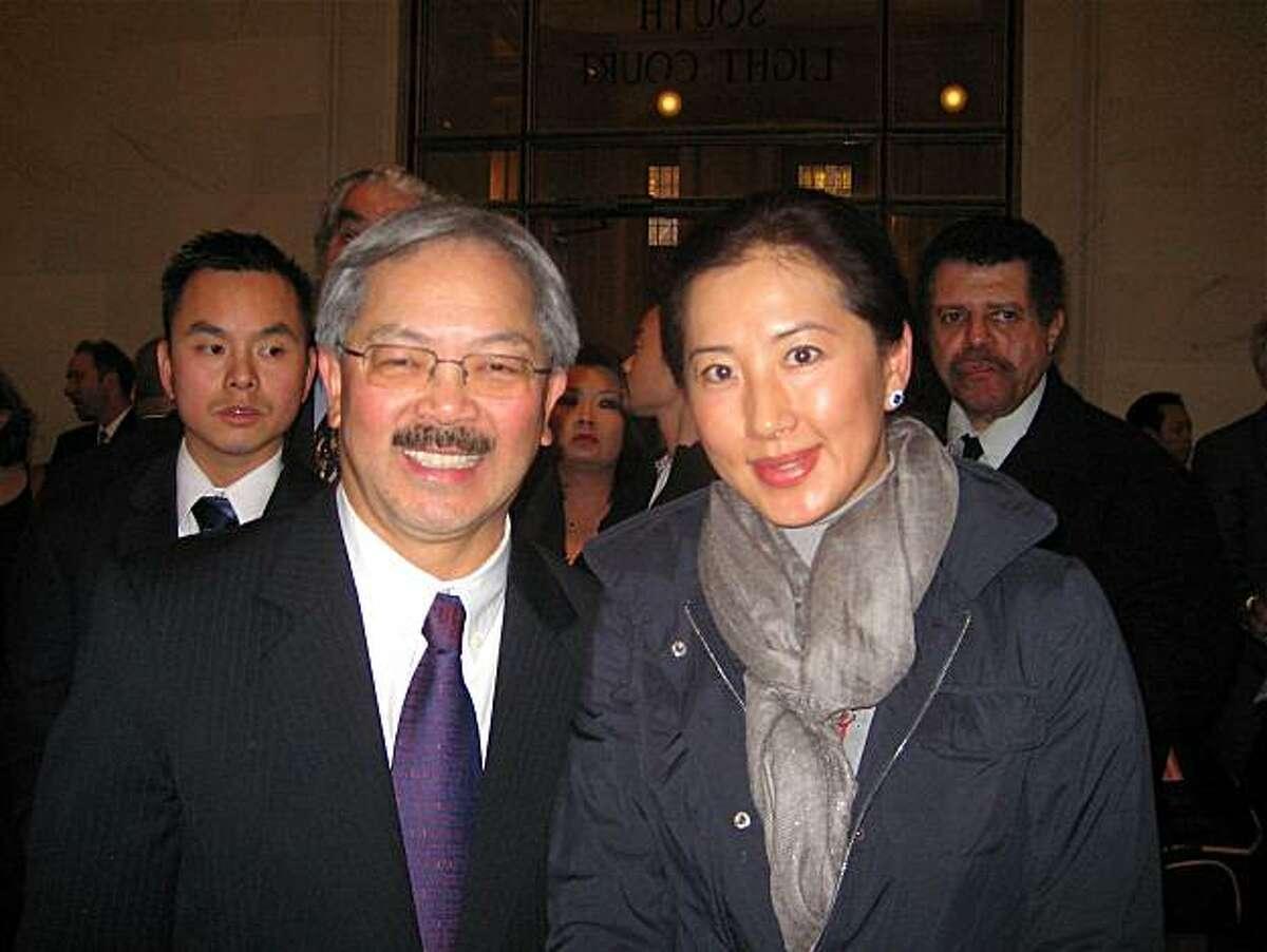 Mayor Ed Lee and Goretti Lo Lui. Jan. 2011. By Catherine Bigelow.