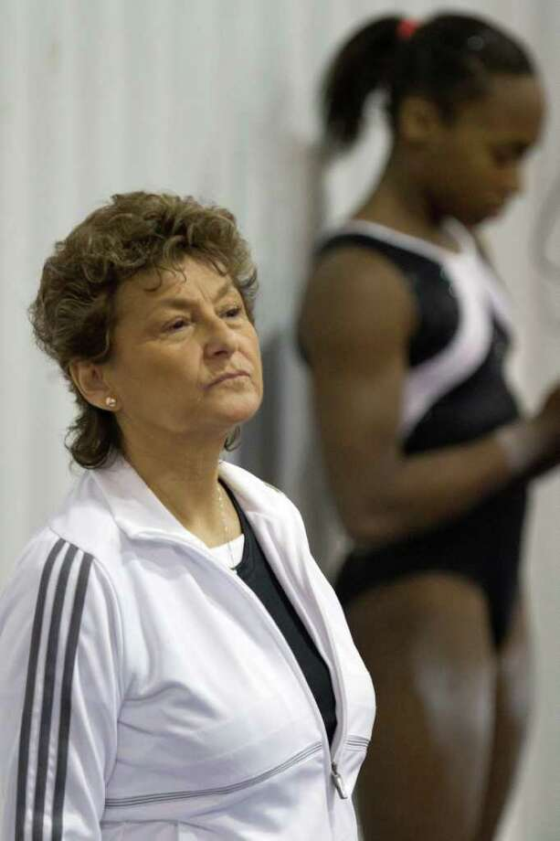 US National Team coordinator Martha Karolyi looks on during a training session at the Karolyi Ranch on Wednesday, Jan. 26, 2011, in Huntsville, Texas. The Karolyi Ranch, which is approximately 60 miles north of Houston and has been the training home of the women's gymnastics team since 2001, was officially designated by the U.S. Olympic Committee today as a U.S. Olympic training site for women's gymnastics, rhythmic gymnastics, trampoline and tumbling and acrobatics. Hilton Worldwide also announced Wednesday that it will become a corporate sponsor of USA Gymnastics. ( Smiley N. Pool / Houston Chronicle ) Photo: Smiley N. Pool / Houston Chronicle