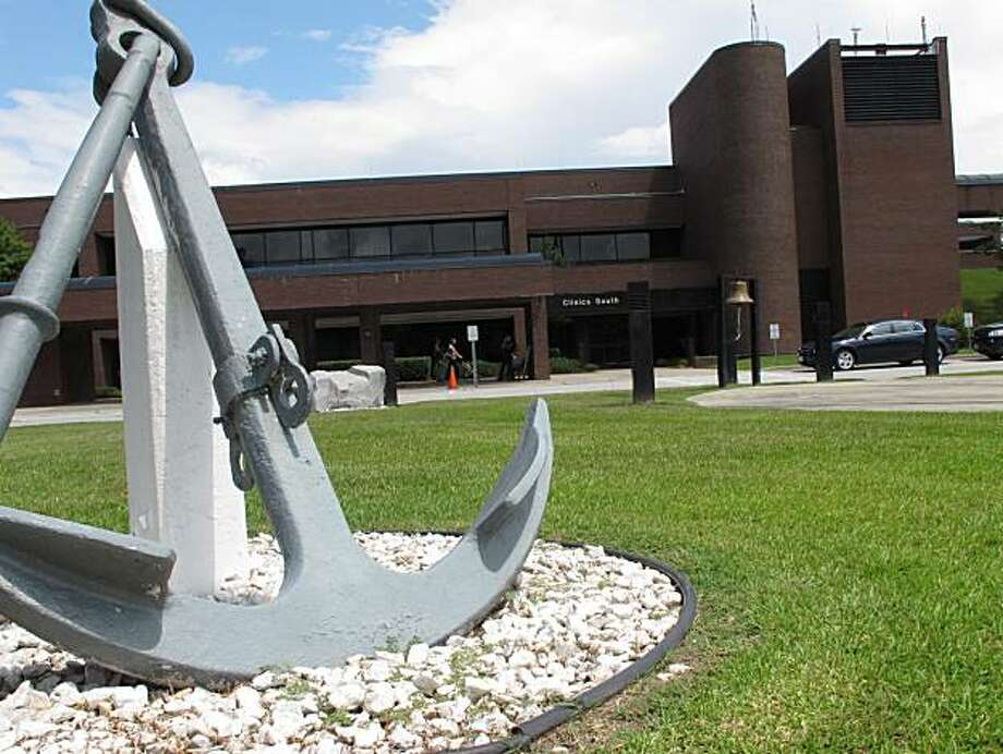 In this Aug. 3, 2010 photo, an anchor stands in front of the entrance to Naval Hospital Camp Lejeune at Camp Lejeune, N.C. The Marines, who have prized toughness and self-reliance for generations, find themselves losing a fight against an enemy that nearly a decade of war has made stronger: The branch's suicide rate has more than doubled over the last three years, surpassing the Army's as the worst in the military. Photo: Kevin Maurer, Associated Press