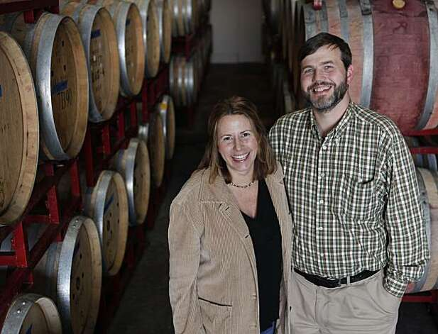 Winemakers to watch, Tracey and Jared Brandt, owners of  A Donkey and Goat Winery, stand for a portrait in their shop on Tuesday Dec. 7, 2010 in Berkeley, Calif. Photo: Mike Kepka, The Chronicle