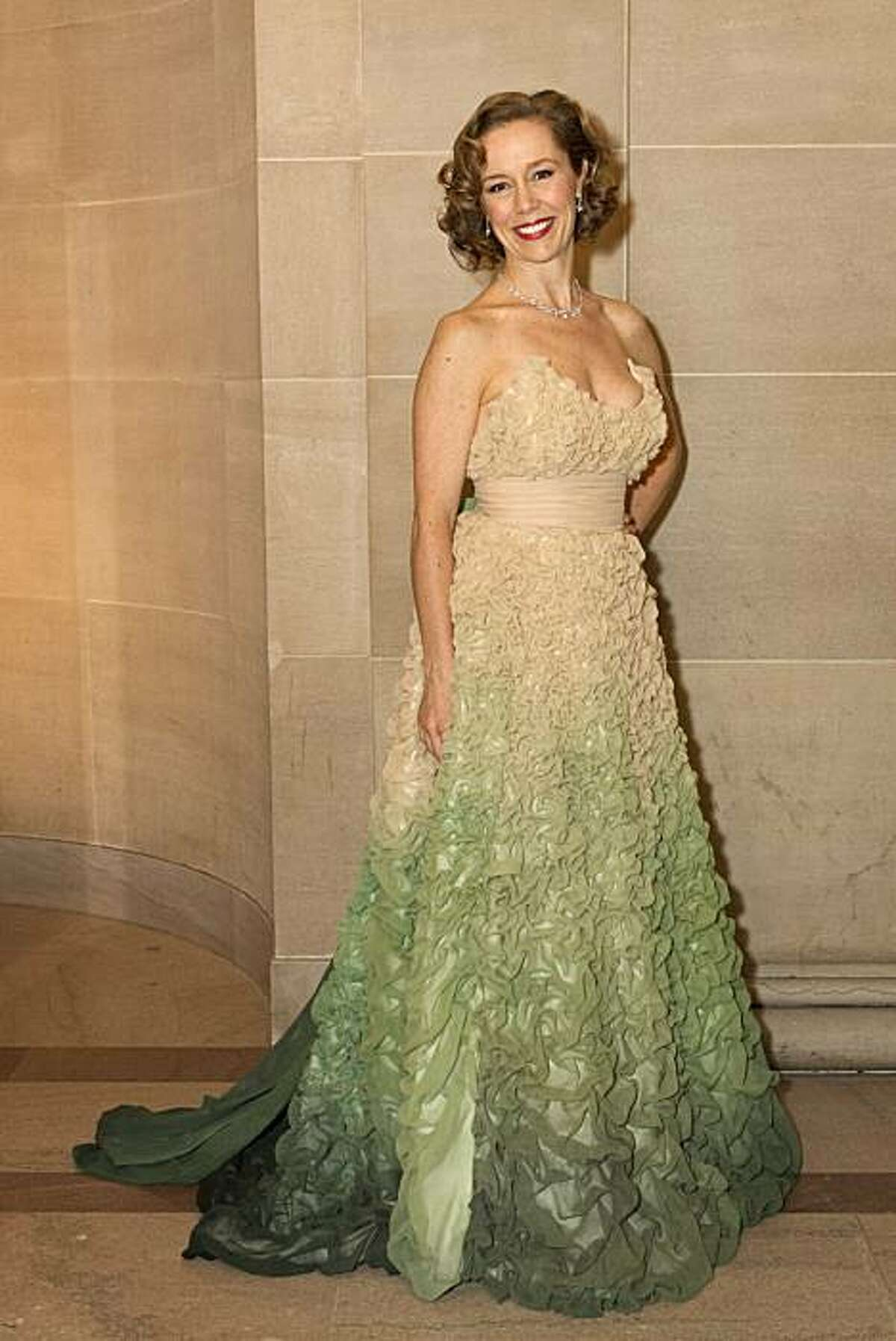 Larissa Roesch wears a blush and green ombre gown by Verrieres & Sako to the San Francisco Ballet 2011 Opening Night Gala at City Hall in San Francisco, Calif., on Wednesday, January 26, 2011.