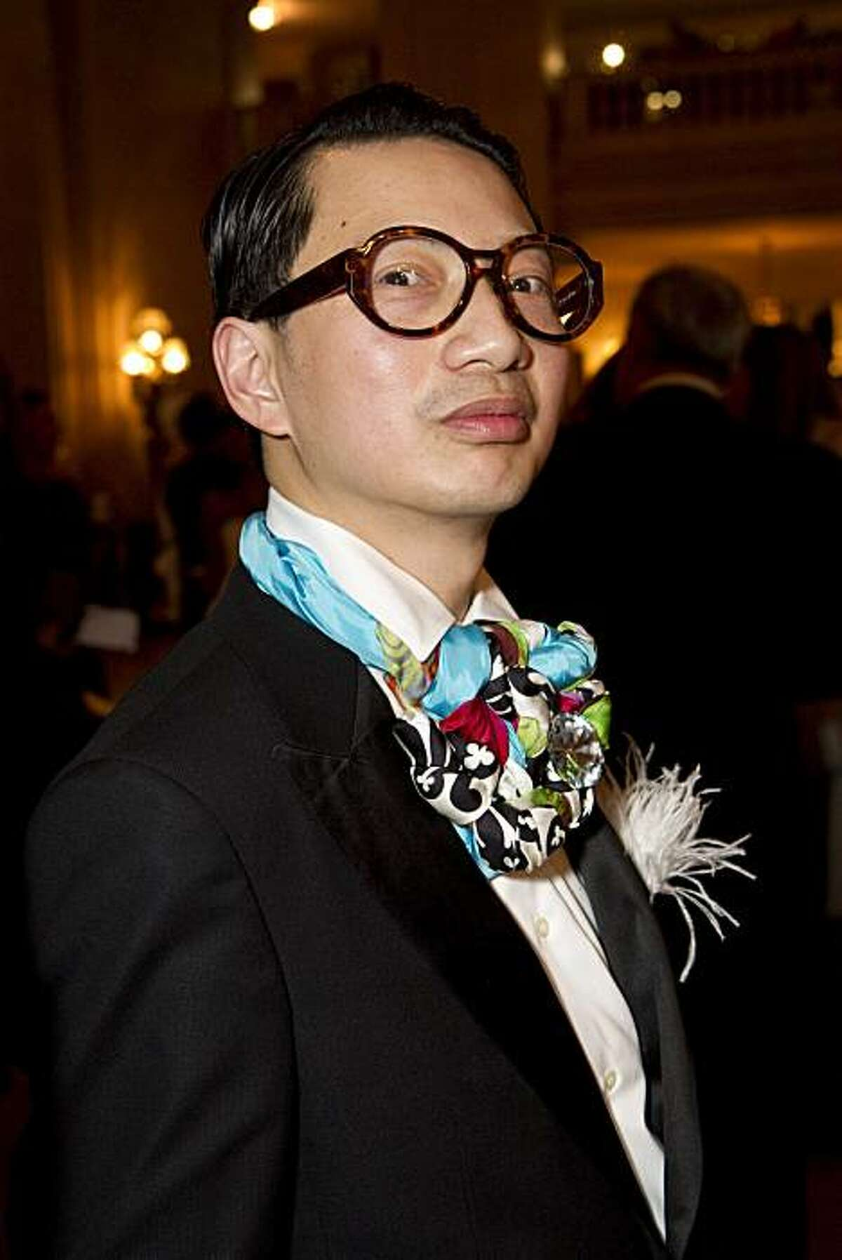 Lorence Manansala wears a colorful tie while attending the San Francisco Ballet 2011 Opening Night Gala at City Hall in San Francisco, Calif., on Wednesday, January 26, 2011.