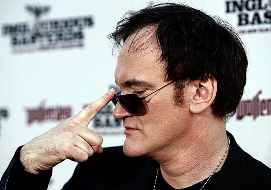 "Director Quentin Tarantino arrives at the premiere of ""Inglourious Basterds"" in Los Angeles on Monday, Aug. 10, 2009. Photo: Matt Sayles, AP"