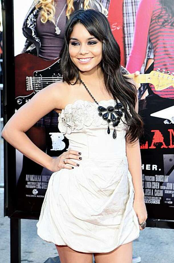 Vanessa Hudgens attends the red carpet premiere of BandSlam at the Mann Village Theatre, Thursday, Aug. 6, 2009 in Los Angeles. Photo: Shea Walsh, AP