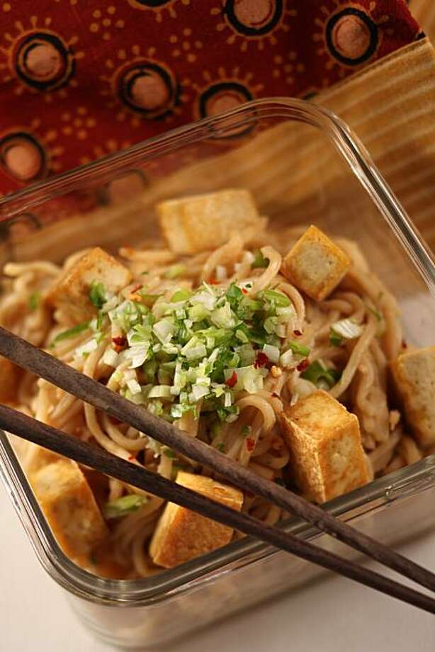 Sesame Noodles with Crunchy Tofu in San Francisco, Calif., on August 12, 2009. Food styled by Tara Duggan. Photo: Craig Lee, The Chronicle