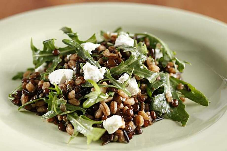 Farro, Lentil & Arugula Salad in San Francisco, Calif., on May 12, 2010. Food styled by Lynne Bennett. Photo: Craig Lee, Special To The Chronicle