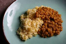"""Carroty cardamom daal accompanied by """"unplain rice"""" styled by Lindsay Patterson on Tuesday, September 27,2010 in San Francisco, Calif."""