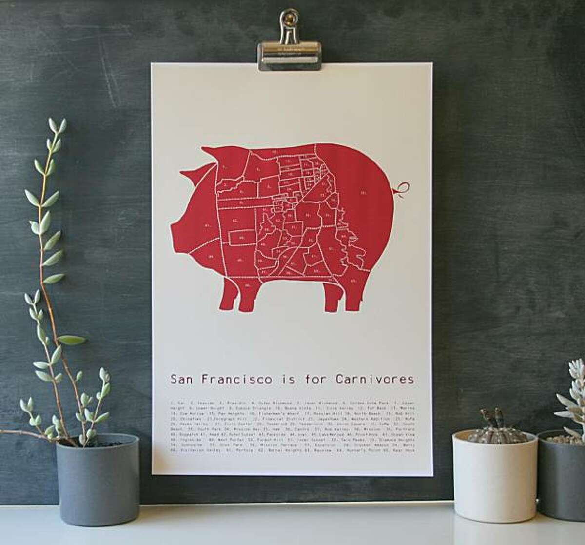 """""""San Francisco is for Carnivores"""" by Alyson Thomas of Drywell Art"""