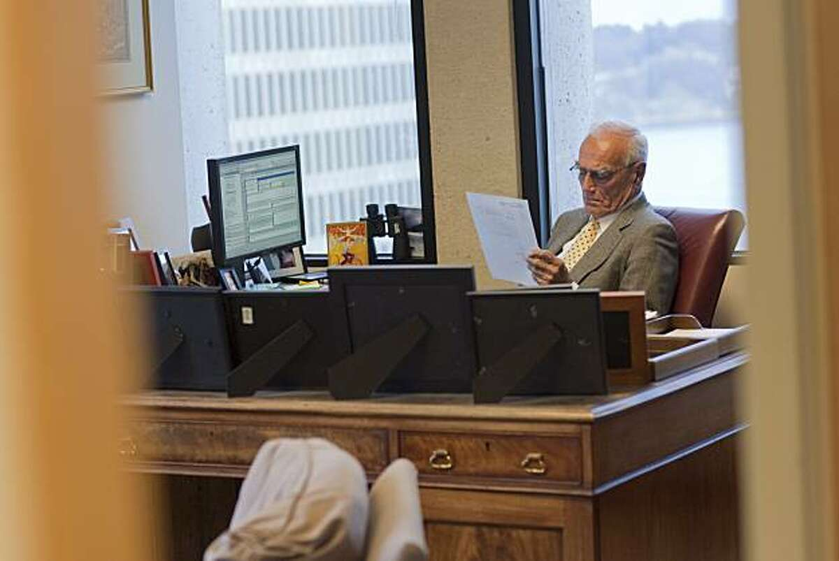 Venture capitalist William H. Draper III looks over documents in his San Francisco office on January 10, 2011 in San Francisco, Calif. Photograph by David Paul Morris/Special to the Chronicle