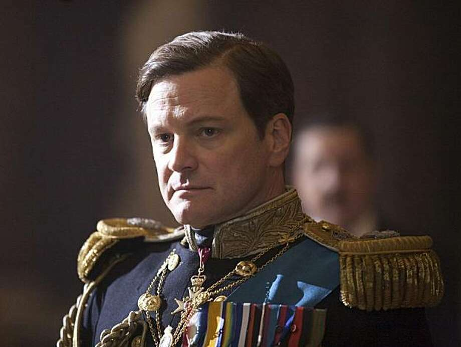 "FILE - In this file film publicity image released by The Weinstein Company, Colin Firth portrays King George VI in ""The King's Speech.""  ""The Social Network,"" a tale about the prickly founder of Facebook, and ""The King's Speech,"" a saga of Queen ElizabethII's stammering dad, are among likely nominees for Hollywood's biggest prize as Oscar nominations are announced Tuesday. Photo: Laurie Sparham, AP"
