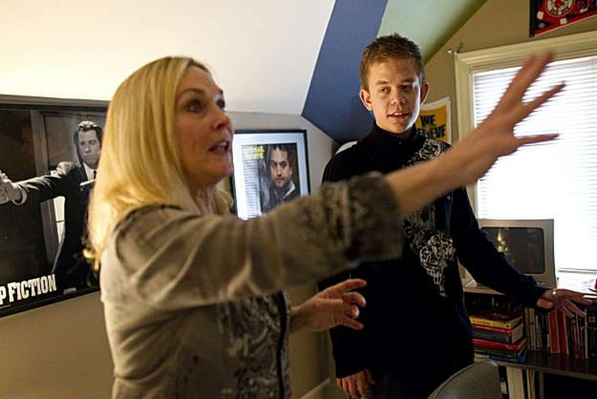 Emil Laage Helt, age 18, receives instruction from Susan Woodell-Mascall while attending a workshop to help him and other students prepare for college theater program auditions in Burlingame, Calif., on Saturday, January 8, 2011.