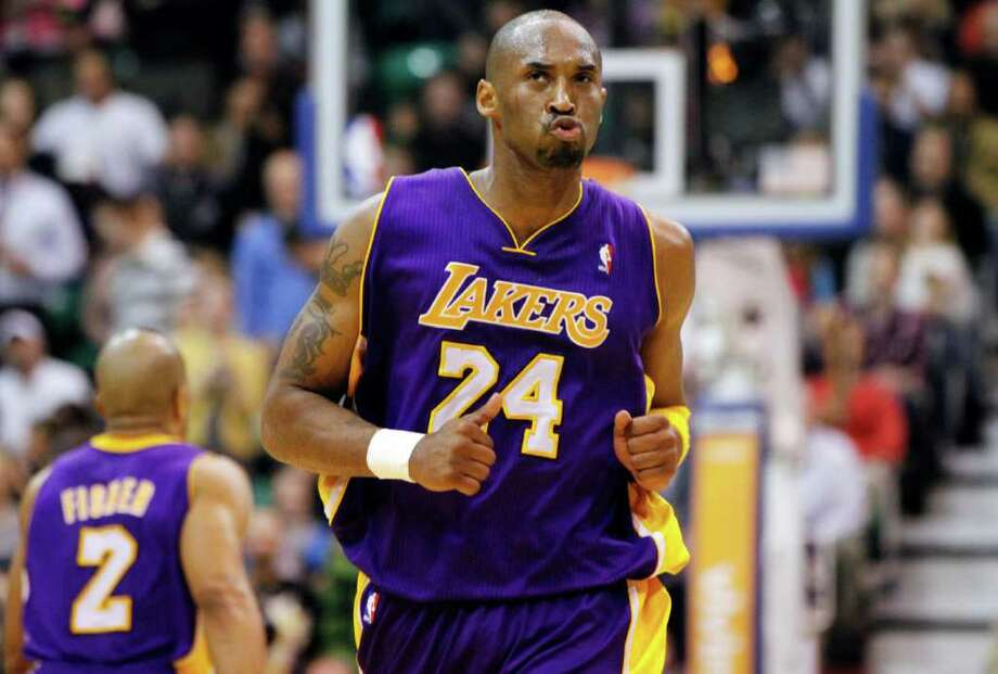 Lakers guard Kobe Bryant followed up a 48-point performance on Tuesday with 40 in a win at Utah. Photo: AP