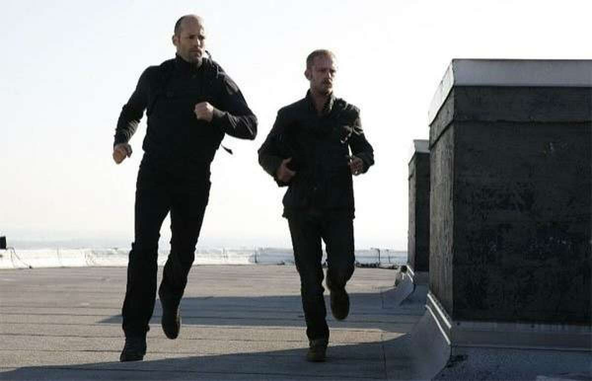 Jason Statham (left) and Ben Foster in