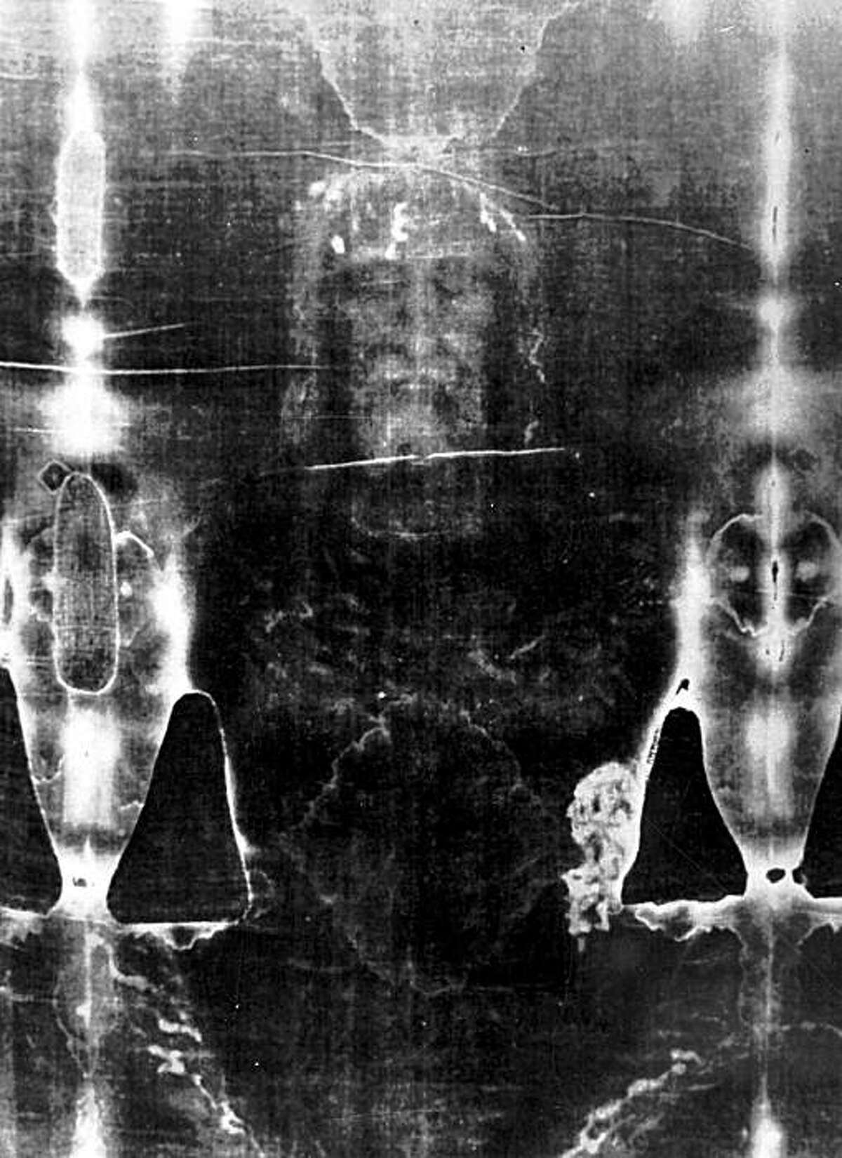 The Shroud of Turin from a file photo taken in 1979.