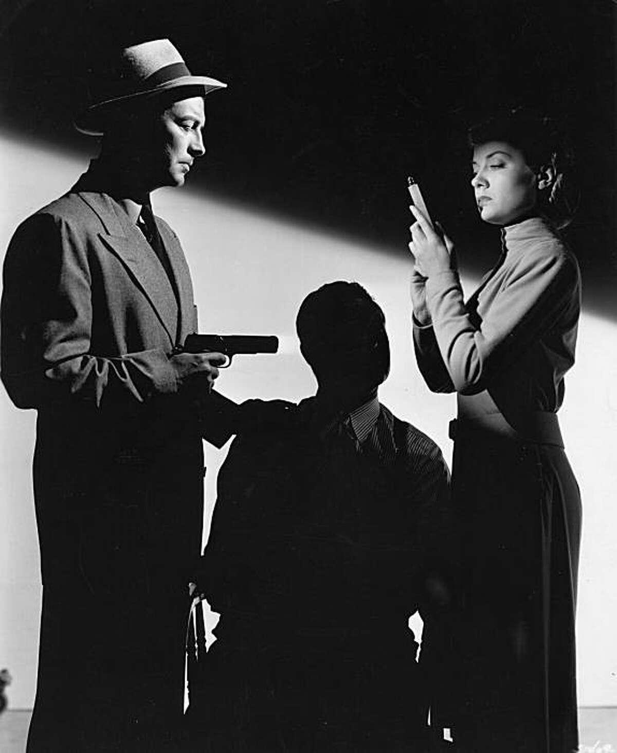 Robert Taylor (left) and Audrey Totter in Curtis Bernhardt's 1947 film noir,