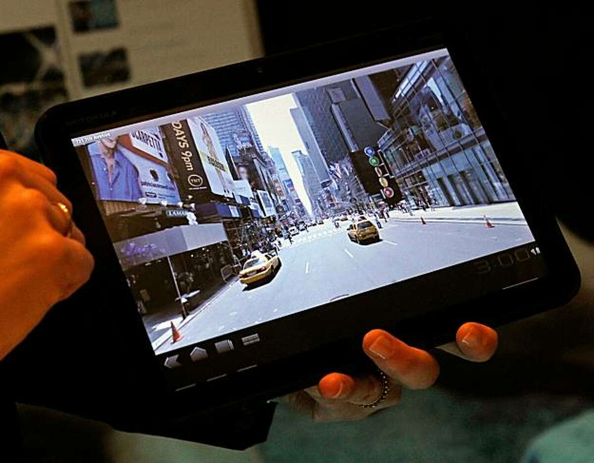 LAS VEGAS, NV - JANUARY 05: The Motorola Xoom Android Honeycomb tablet is displayed during a press event at the 2011 International Consumer Electronics Show at the Venetian January 5, 2011 in Las Vegas, Nevada. CES, the world's largest annual consumer technology tradeshow, runs from January 6-9 and is expected to feature 2,700 exhibitors showing off their latest products and services to about 126,000 attendees.