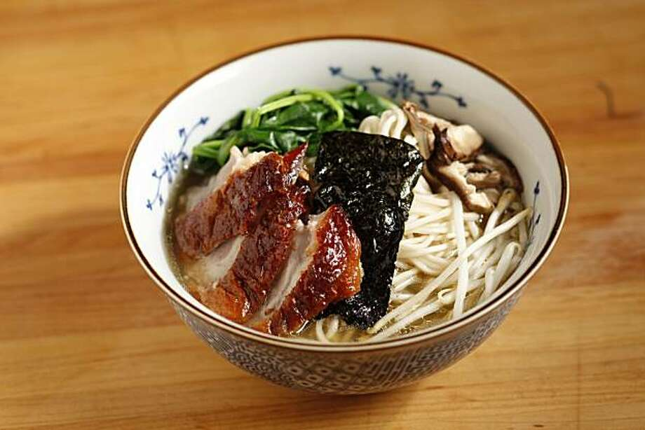 Duck ramen as seen in San Francisco, Calif., on December 22, 2010. Food styled by Janny Hu. Photo: Craig Lee, Special To The Chronicle