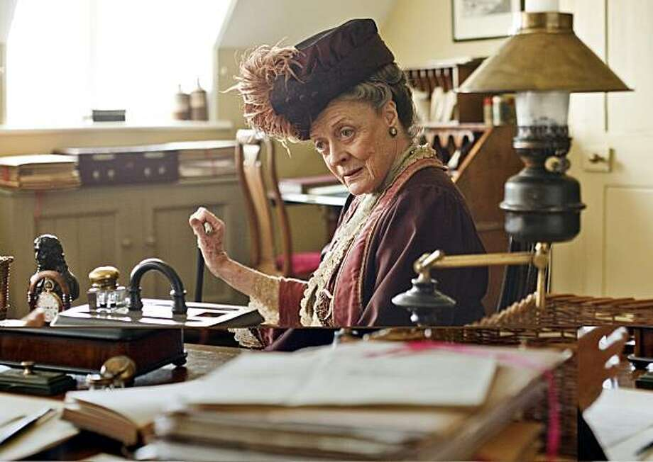 Created by Oscar-winning writer Julian Fellowes (Gosford Park), ÒDownton AbbeyÓ depicts the lives of the noble Crawley family and the staff who serve them, set at their Edwardian country house in 1912. Featuring an all-star cast, including Hugh Bonnevill(MASTERPIECE CLASSIC ?Miss Austen Regrets?), Dame Maggie Smith (Harry Potter) and Elizabeth McGovern. Pictured: Dame Maggie Smith (Violet, Dowager Countess of Grantham) Photo: Masterpiece