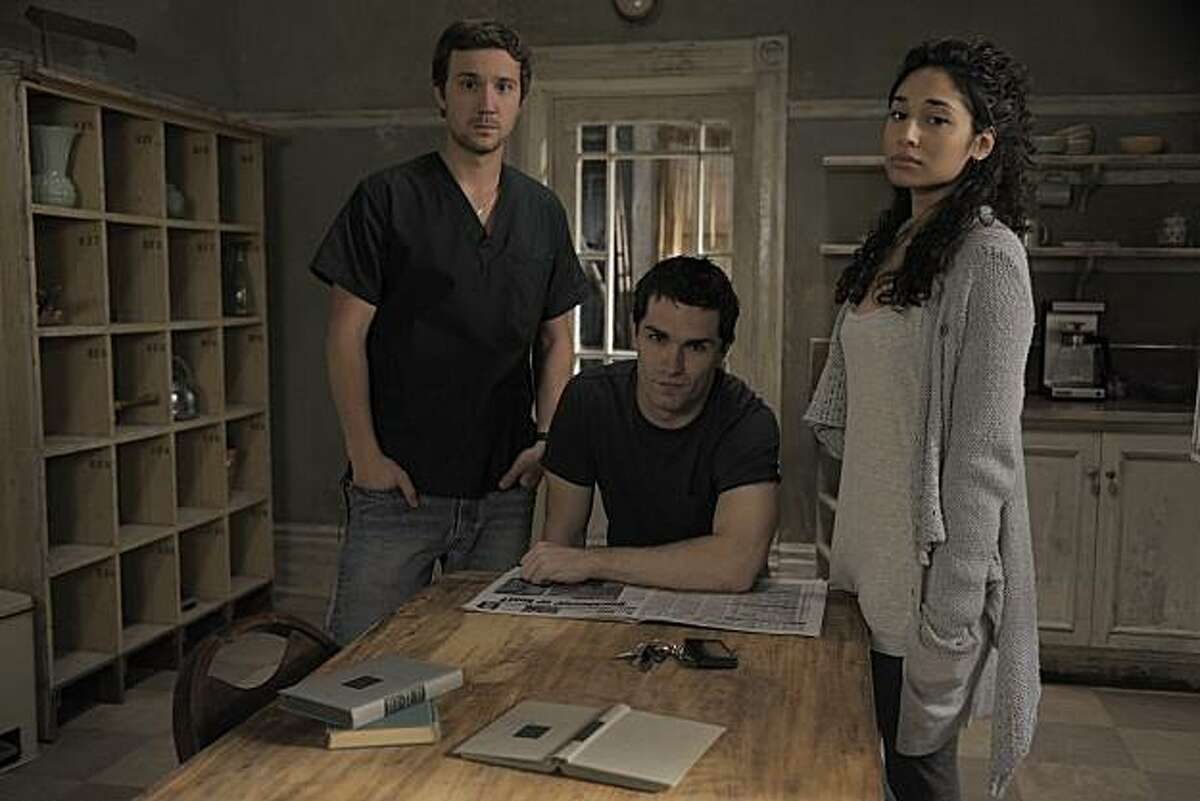 BEING HUMAN -- Episode 102 -- Pictured: (l-r) Sam Huntington as Josh, Sam Witwer as Aidan, Meaghan Rath as Sally.
