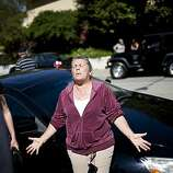 Karen Frechette expresses her frustration on not being allowed to see if her house or pets survived an explosion September 10, 2010 in San Bruno, California. Thirty eight homes were destroyed and four people were killed whena Pacific Gas and Electric gas main blew up in a San Bruno, California neighborhood near San Francisco International Airport on Thursday evening.