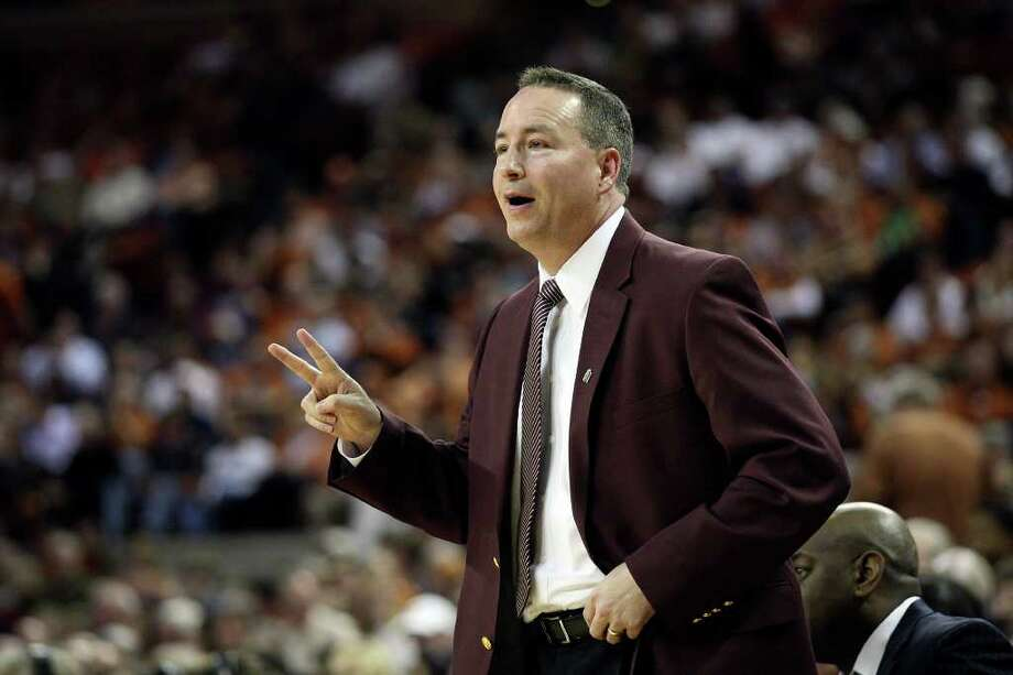 Coach Billy Kennedy's A&M team needs to go 6-1 in a tough stretch just to finish .500 in Big 12 play. JERRY LARA/glara@express-news.net Photo: JERRY LARA, Express-News / SAN ANTONIO EXPRESS-NEWS