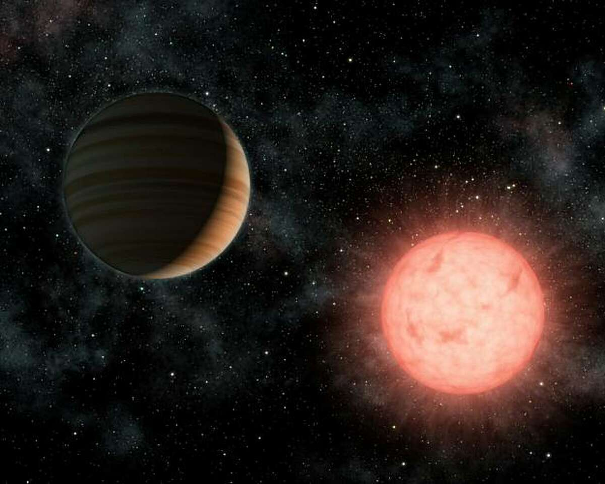 This NASA artist's concept shows the smallest star known to host a planet. The planet, called VB 10b, was discovered using astrometry, a method in which the wobble induced by a planet on its star is measured precisely on the sky. The dim, red star, calledVB 10, is a so-called M-dwarf, located 20 light-years away in the constellation Aquila. The smallest-ever planet outside our solar system has been spotted by NASA's Kepler space telescope -- a rocky planet similar in size to the Earth, the US space agency said on January 10, 2011. The planet, named Kepler-10b, is about 1.4 times the size of Earth and spins around its star more than once a day, an orbit much too close for life to survive, NASA said in a statement.