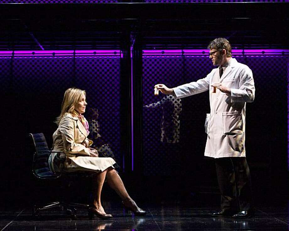 "alice Ripley and Jeremy Kushnier in ""next to normal."" Photo: Craig Shwartz"