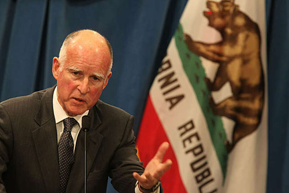 Governor Jerry Brown introduces his January budget proposal on Monday morning, January 10, 2011, at the state capitol in Sacramento, Calif. Photo: Liz Hafalia, The Chronicle