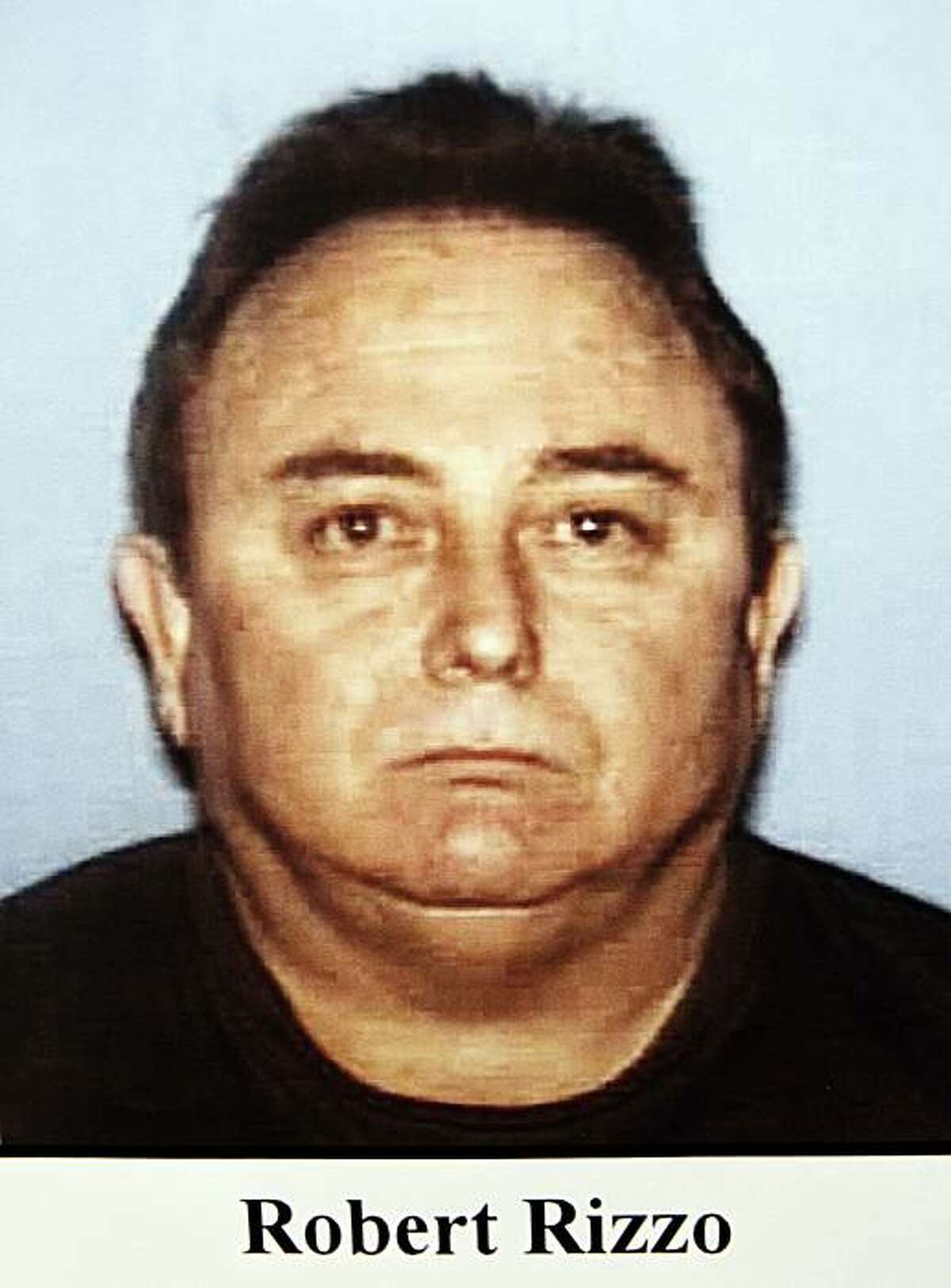 This image provided by the Los Angeles Police Department and displayed during a District Attorney's news conference Tuesday Sept. 21, 2010 shows ex-Bell city manager Robert Rizzo who was arrested Tuesday over allegations of corruption, misuse of public funds and voter fraud.