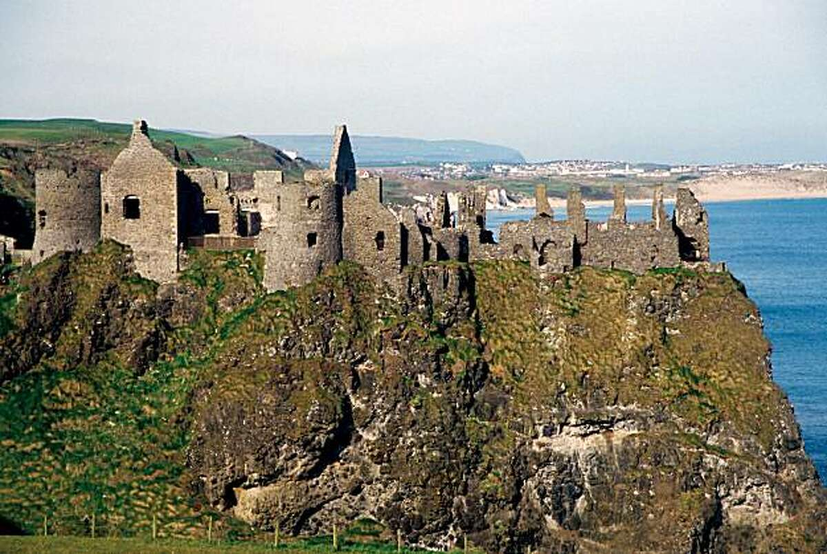 The crumbling walls of Northern Ireland's Dunluce Castle are worth a day trip from Belfast or Dublin.