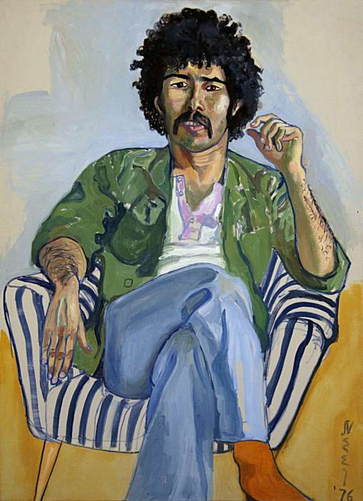 """""""The Arab"""" (1976) oil on canvas by Alice Neel"""