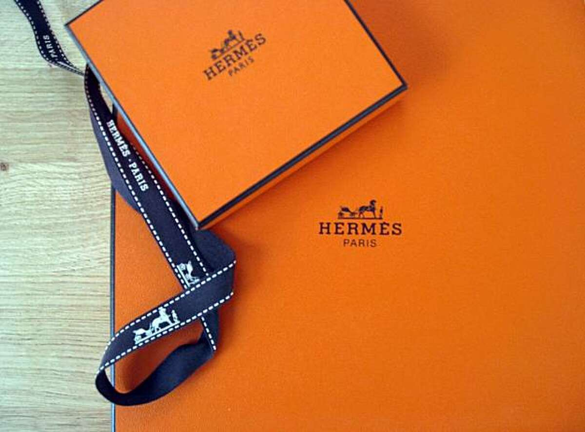 Hermes boxes, a Shirley Robinson favorite.