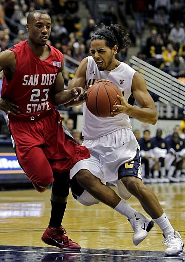 San Diego State Aztecs D. J. Gay foals California Golden Bears Jorge Gutierrez in the first half of the game, Wednesday Dec. 8, 2010, in Berkeley, Calif. Photo: Lacy Atkins, The Chronicle