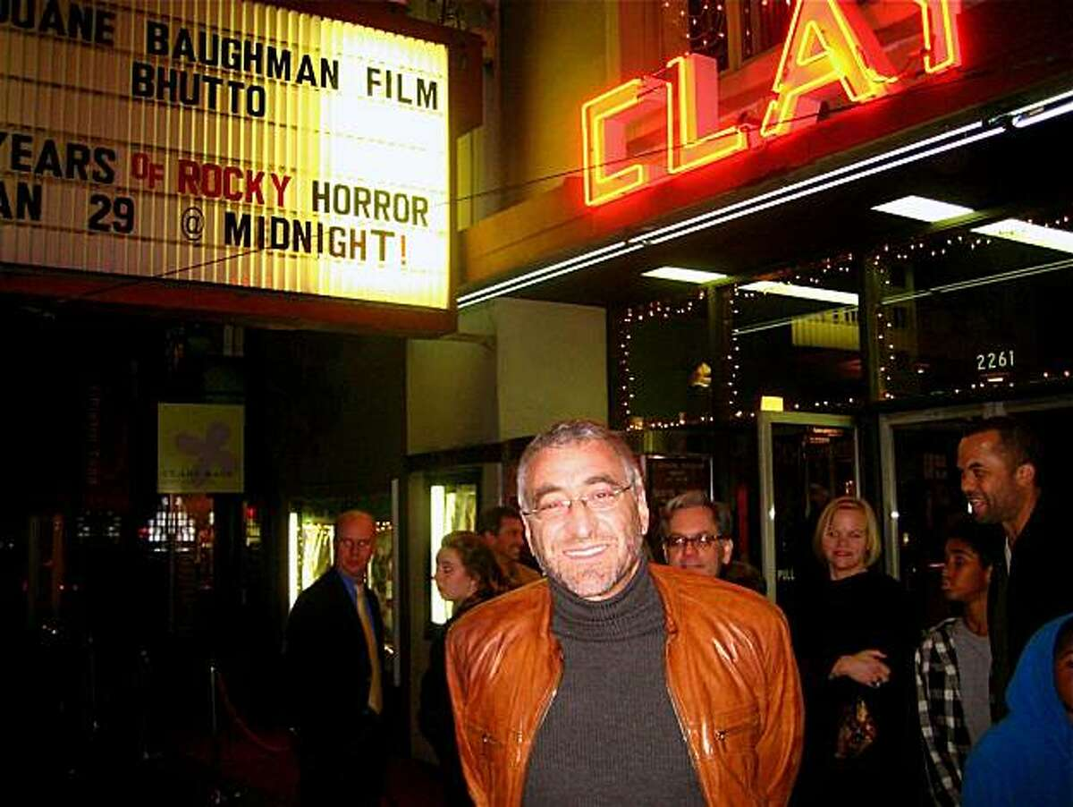 Duane Baughman at the Clay Theater for the Bhutto premiere. Jan 2011. By Catherine Bigelow.