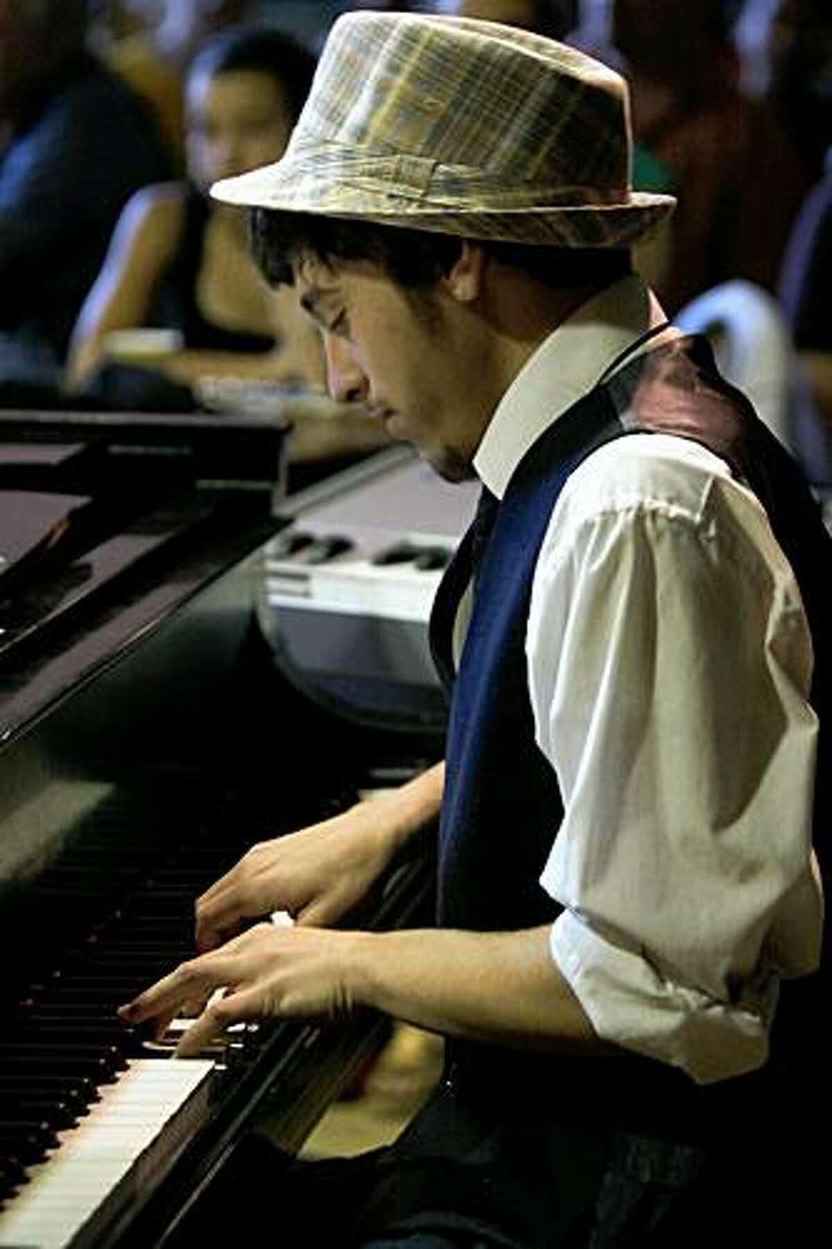 Samora Pinderhughes, a piano student at The Jazzschool in Berkeley.