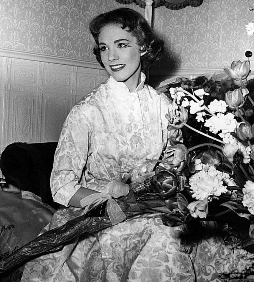 Julie Andrews, 1958, age 22 or 23. Photo: File Photo