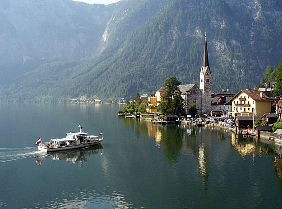 The good ship Stefanie shuttles travelers back and forth between Hallstatt's train station and the old town center.