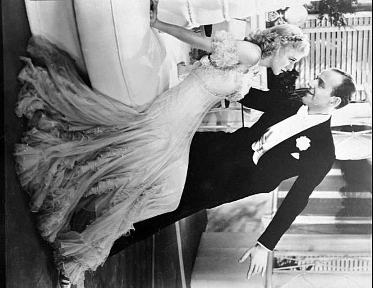 Ginger Rogers and Fred Astaire perform in the 1936 film