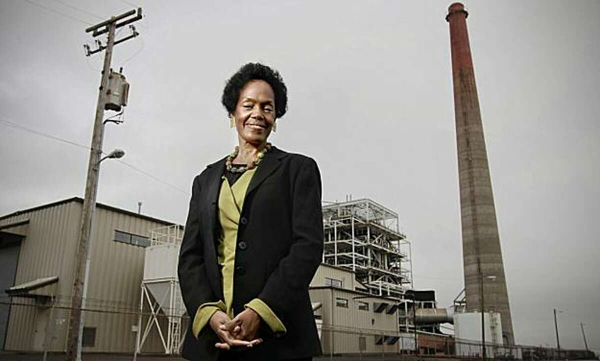 San Francisco Supervisor, Sophie Maxwell on Friday Dec. 10, 2010. Maxwell will be termed out of office next month. Maxwell in front of the Mirant power plant, East of 3rd Street in San Francisco, Calif.