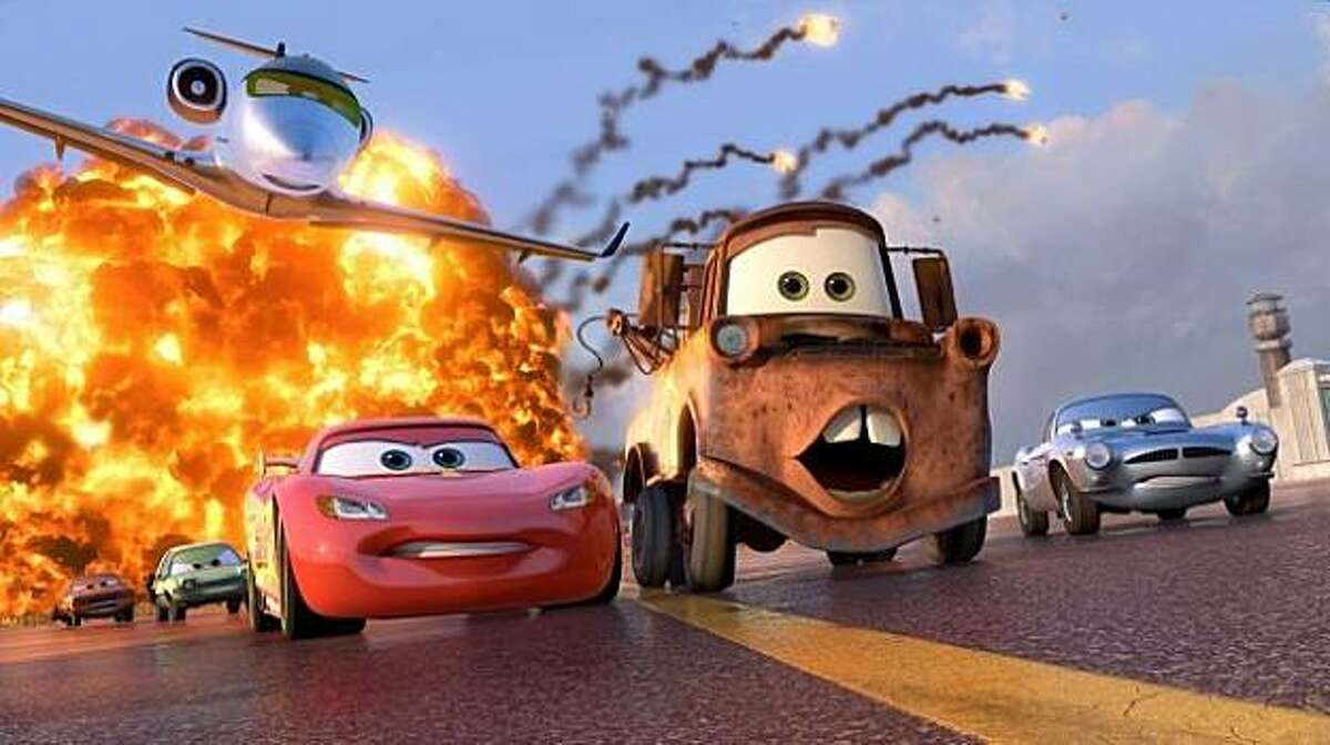 McQueen and Mater race in
