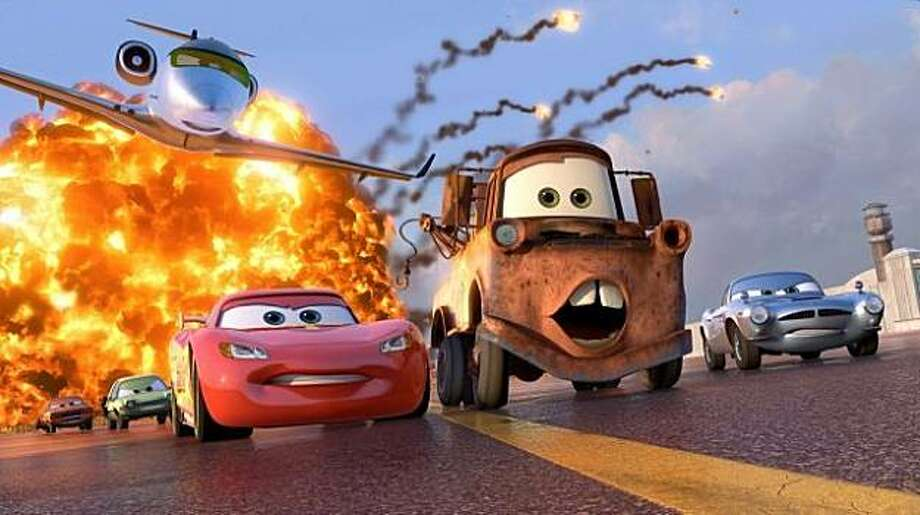 "McQueen and Mater race in ""Cars 2"" Photo: Disney/Pixar"
